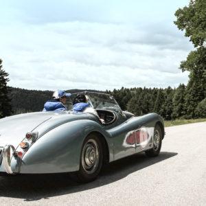 Jaguar beim Lord George Oldtimer-Rallye Training als Tagesevent für Einsteiger