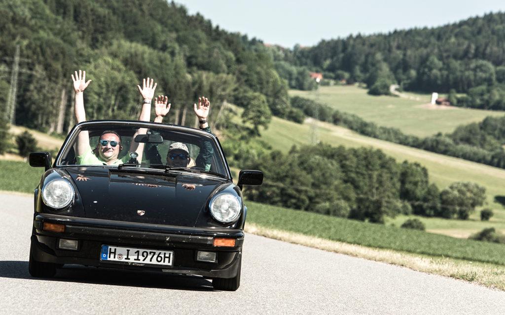 Teilnehmer bei der Lord George Classic Rallye